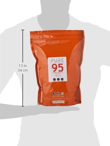 Bodybuilding Warehouse Pure Whey Protein Isolate 95 Powder Smooth Milk Chocolate 1 kg