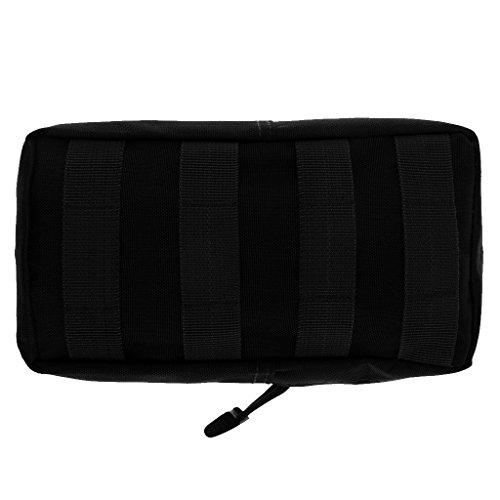 600D Imperméable Tactique Modulaire Pochette Sac Utilitaire Accessoire Militaire - Noir, Taille unique