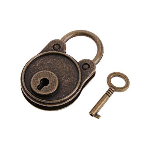 VERBENA LINN Vorhängeschlösser mit Schlüssel und Schlüsselschloss in Bärenform, Vintage-Stil, antiker Stil