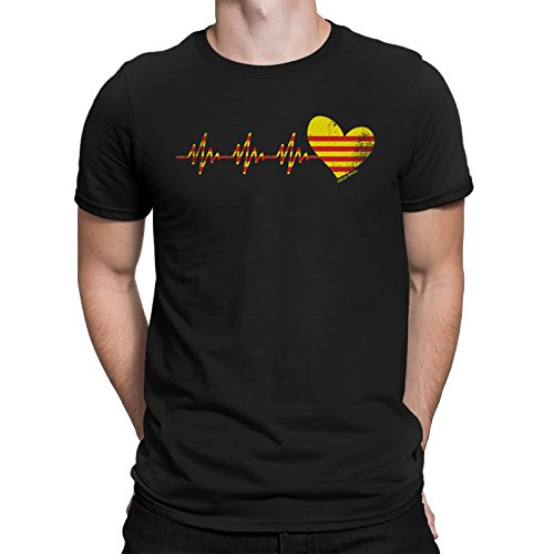 buzz shirts Catalonia Heartbeat Mens T-Shirt Spain Espana Catalan Barcelona Gift