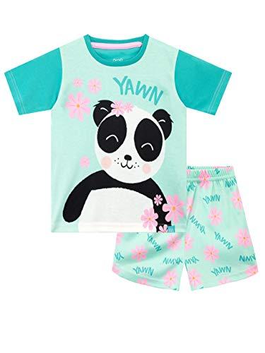 Harry Bear Mädchen Kurze Schlafanzug Panda Grün 128