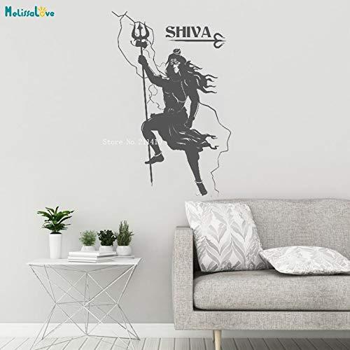 ASFGA Comic Shiva Vinyl Wandtattoo Hinduismus Hindu Gott indisch Wohnkultur Aufkleber Wandbild Wohnzimmer respektierte Kunst Vinyl Poster 112x175cm