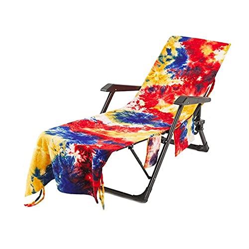 Cubierta de silla de salón de playa, tinta de tinte reclinable Absorbente Silla de secado rápido Pista Playa Piscina Piscina Toalla Salón Toalla Toalla Thin Swim Plegable Silla Playa Sillón Sillón Cub