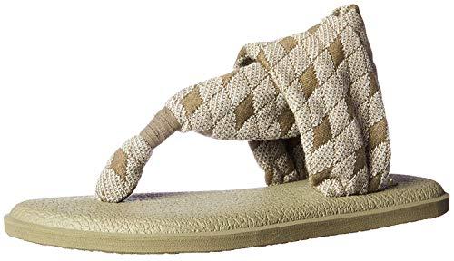 Sanuk Women's Yoga Sling 2 Print Vintage Sandal, Burnt Olive ARG, 7