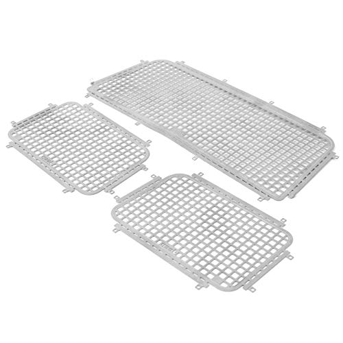 Rete per finestrini RC, rete per finestrini RC in acciaio inossidabile antiruggine, leggera per auto Jeep 1/10 RC