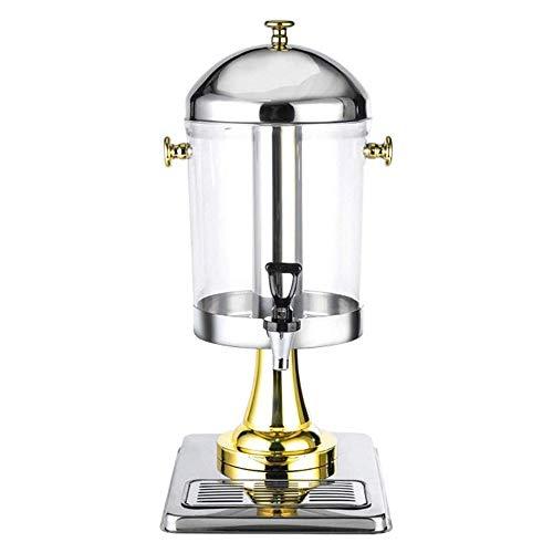 KJRJT Heavy Duty Edelstahl Getränkespender, Gewerbe Zu, Eistee-Getränkezufuhr, 8 Liter pro Dose, Startseite Haushalt Kaffeemaschine (Size : S)