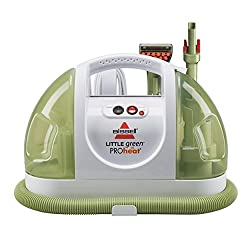 My favorite cleaning tools: a steam cleaner for carpet and upholstery!