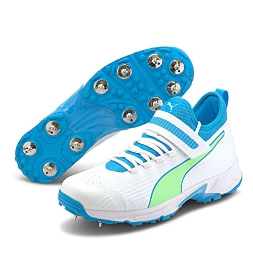 Puma Hombre 19.1 Zapatos De Críquet Deportivos con Clavos Blanco/Azul EUR 43