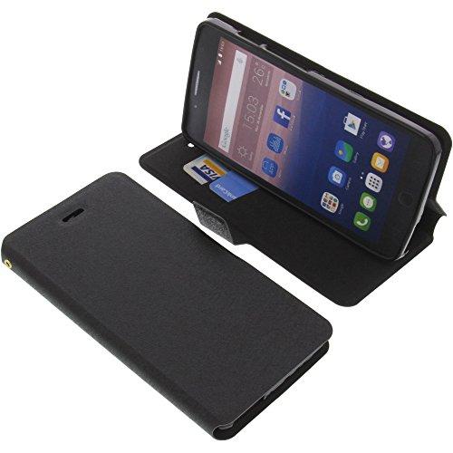 foto-kontor Tasche für Alcatel OneTouch Pop Star 5022D Book Style schwarz Schutz Hülle Buch