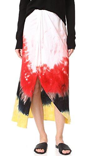 Baja East Women's Tie Dye Cotton Skirt, Paradise 4001, 00