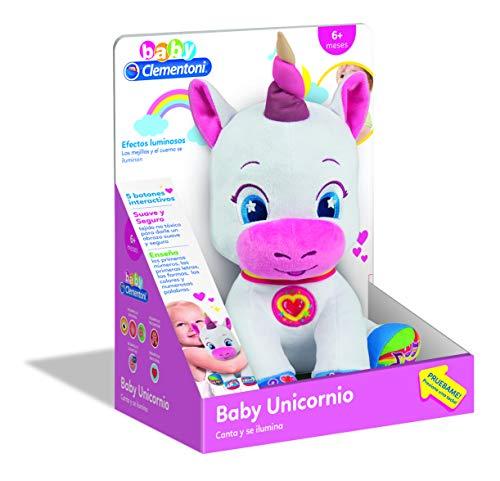 Clementoni - Baby Unicornio Muñeca, Multicolor, 55262
