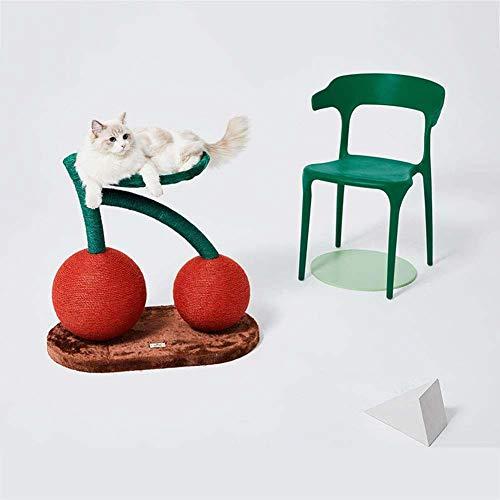 Skysep Juguete Cereza Árboles para Gatos con Nido de Gato Arañazo Gatos Juguetes de Sisal Natural Rascador para Gatos Arañar Juguete Rojo Plegable