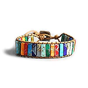 EXINOX Chakra-Armband, Natursteine, für Männer und Frauen, traditioneller tibetischer spiritueller Buddhist