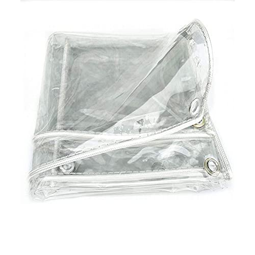 Lona Alquitranada,Lonas Impermeable Resistente,Cubierta De Lona Transparente De Pvc Reforzada,0.3mm Impermeable,Para JardíN,Exteriores Y Camping,Toldo De Planta ProteccióN(Size: 1.5x4m(4.9x13.1ft))
