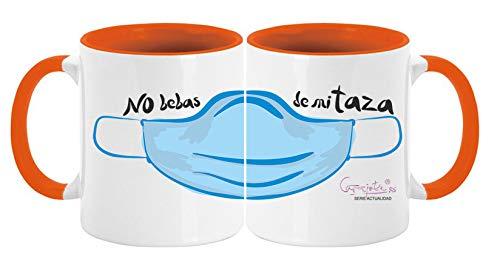 CARAJOTE Tazza Serie ATTUALIDAD Coronavirus No Bas de My Tazza Arancione