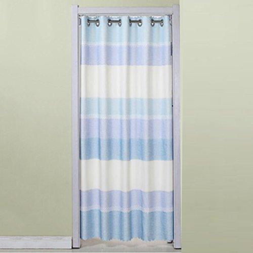 Liuyu · Maison de Vie Porte Rideau Tissu Rideau Cut Off Double-Face Épaississement Ménage Cuisine Chambre Baie Fenêtre (Couleur : Bleu, Taille : 200 * 150cm)