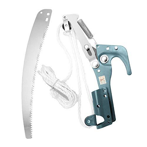 Ferrestock P06P66 Coupe-branches avec perche télescopique extensible de 123 cm à 240 cm, lame de 33 cm de long, pour couper des branches jusqu'à 30 mm d'épaisseur