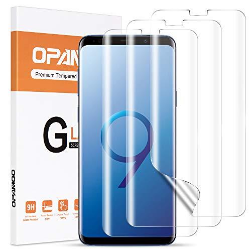 opamoo Schutzfolie für Samsung Galaxy S9, [3 Stück] Volle Abdeckung Samsung Galaxy S9 TPU Weich Folie mit Positionierhilfe, HD Klar Blasenfrei Displayschutzfolie für Samsung Galaxy S9 Displayschutz