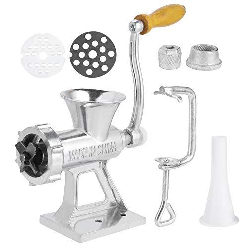 Manueller Fleischwolf Aluminiumlegierungsschleifer Handmühle, Handwurstfüllung zum Festklammern Fleischwolffüllmaschine