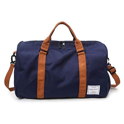 Gym Sports Duffle Bag Men Travel Shoulder Bag Portable Women Big Handbag Fitness Weekend Duffel Bag Multifunctional Handbags Portable and Durable (Color : Blue, Size : 47x28x26cm)