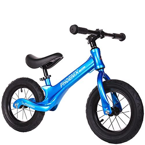 Balance car Scooter de aleación de magnesio con Freno de pie de 12 Pulgadas para niños de 1-3-6 años (Rojo, Azul, Negro)