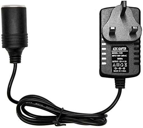 TFUFR Car Voltage Converter 240V 2A AC Mains to 12V DC Socket Power...