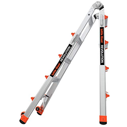 Little Giant Ladders, Revolution, M17, 17 ft, Multi-Position Ladder, Aluminum, Type 1A, 300 lbs weight rating (12017)