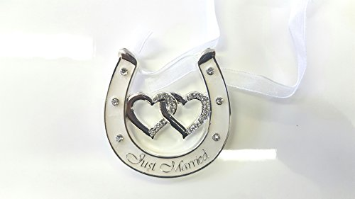 The Leonardo Collection Silver Plated Wedding Horse Shoe Gift. Just Married * Good Luck * Mr & Mrs