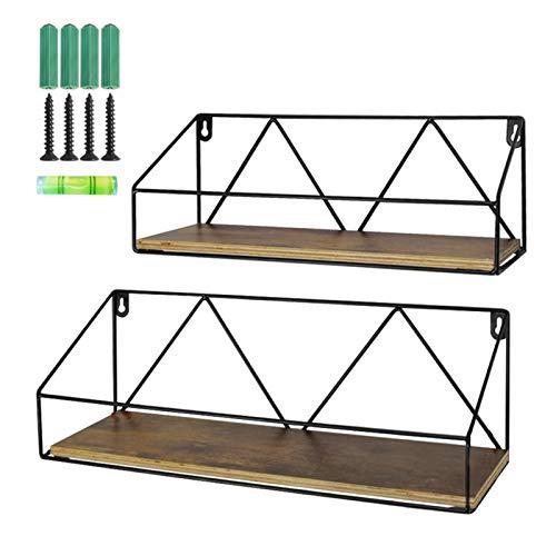 UMI. by Amazon Estantes flotantes rústicos de Madera para baños, Salas de Estar o cocinas, Set de 2