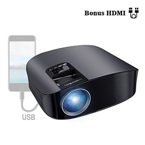 VideoProiettore Home Cinema Proiettore HD Overhead 3500 Lumens Supporto 1080P Full HD con HDMI/USB/AV/VGA/SD per intrattenimento domestico, feste e giochi