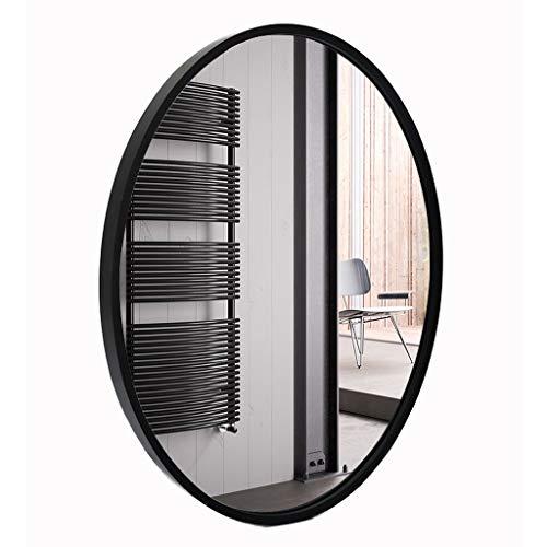 LWY HD baño Espejo Negro Blanco Marco de Madera Maciza nórdica de Pared Espejo decoración del hogar J4/5 (Color : Black, Size : 53x68cm)