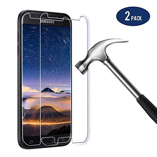 Bigmeda Panzerglas für Samsung Galaxy J5 2017, Panzerglasfolie für Samsung J5 2017 Folie 9H Anti-Fingerabdruck mit J5 2017 Hülle Schutzfolie Displayschutzfolie Display für Samsung J5 2017-2 Stück