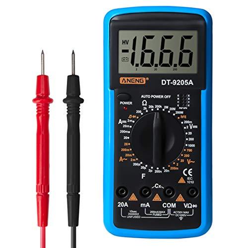 SANON Digitalmultimeter Digital-Multimeter Dt-9205A AC/DC-Volt-Ampere-Ohm-Kapazität-Hz-Tester