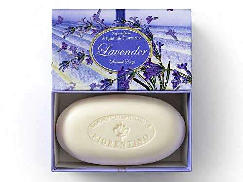 Jabón de Lavanda, caja de jabón de Saponificio Artigianale Fiorentino, 300g