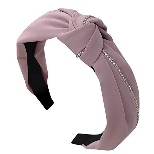 Cocoty-Store 2019 ancho bandas para la cabeza nudos turbante diademas para mujeres niñas,Rosado
