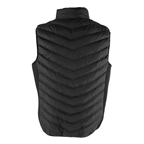 Czarna ogrzewana kamizelka, z bawełnianym systemem grzewczym 75 x 55 cm wodoodporna żakiet do ubrań