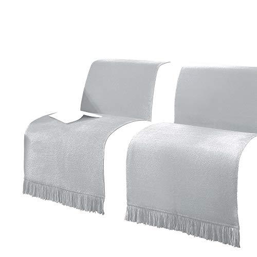 Erwin Müller Sessel- und Sofaschoner Baumwollmischung Silber Größe 50x200 cm