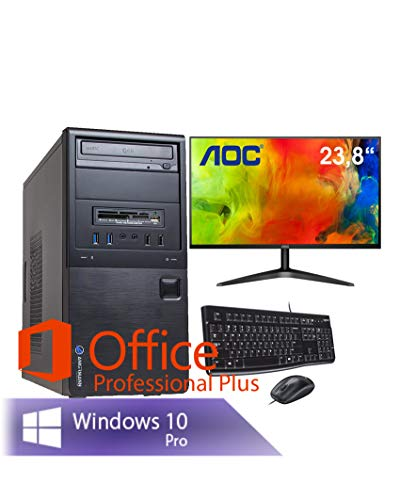 Ankermann Neu Business Office Work PC PC Intel Pentium 2X 3.0 Ghz mit Garantie HD Graphic 8GB RAM 240GB SSD Windows 10 PRO Office Professional Keyboard Mouse