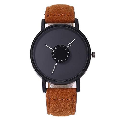 Damen Armbanduhr, LEEDY 2019 Neu Frauen Women Einfache Analog Quarz Uhr mit Lederband Uhren Watch Quarzuhr Damenuhr Mädchen Geschenk