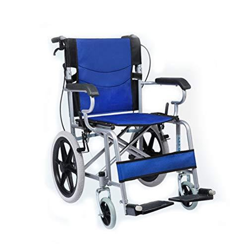 QXF-D Mit Selbstantrieb Zubehor Leichtgewichtrollstuhl, Ältere Hand Drückt Tragbarer Rollstuhl, Rollstuhl Compact for Senioren, Behinderte, Und Behinderte Nutzer