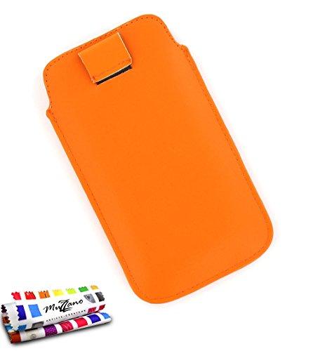 MUZZANO Schutzhülle Alcatel OT/6033[Le Sweep] [orange] Eingabestift und Reinigungstuch angeboten–Der Schutz stoßfest ultimative, Elegante und nachhaltige für Ihr Alcatel OT/6033