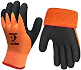 Pro Waterproof Winter Work Gloves, Superior Grip Coating Insulated Liner Thermal Warm for Cold...