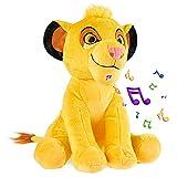 Disney Peluches Pequeños de Stitch, Simba y Dumbo, Peluche Bebe 28 cm, Disney Juguetes Interactivos (Amarillo Simba)