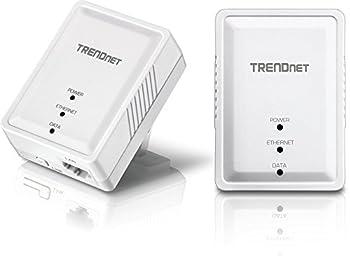 TRENDnet Powerline 500 AV Nano Adapter Kit Includes 2 x TPL-406E Adapters Cross Compatible With Powerline 600-500-200 Windows 10 8.1 8 7 Vista XP Plug & Play Install White TPL-406E2K