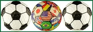 Soccer Balls w/ International Flags Golf Ball Gift Set