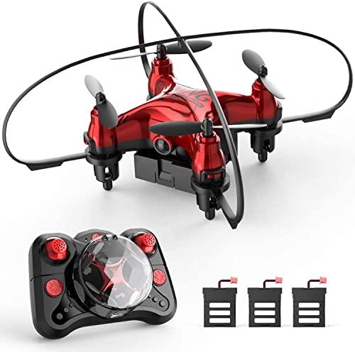 HT00. Mini drone for bambini principianti tascabile Rc. Quadcopter con altitudine Hold Hold Flips 3D Flips 3 modalità velocità 3 Batterie Modalità senza testa Guardie di protezione e dono di arresto d