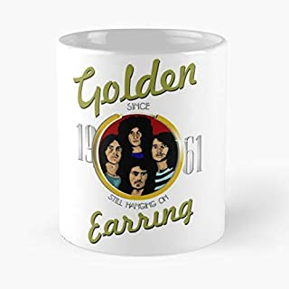 Golden Earring Still Hanging On Classic Mug - The Funny Coffee Mugs For Halloween, Holiday, Christmas Party Decoration 11 Ounce White Smashnerd.