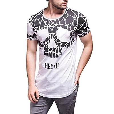 Winsummer Men's Vampire Skulls T-Shirt Short Sleeve Casual Print Graphic Tee Summer Man Tshirts Tops