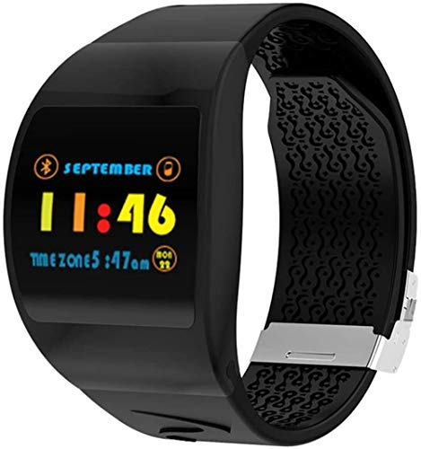 P63 Smartwatch für Herren und Damen, Blutdruck-/Herzfrequenz-Monitor, Smartwatch, IP67, wasserdicht, WhatsApp-Erinnerung, modische Smart-Uhr, Sport-Armbanduhr, tägliches Tragen/E-A