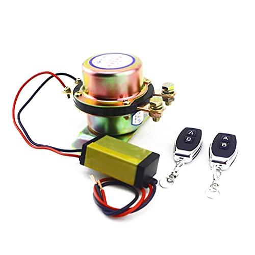 LIULIANG MeiKeL Interruptor De Batería Universal De 12V con 2 Piezas De Control Remoto Inalámbrico Control Manual De Control De Desconexión del Cobre De Retransmisión